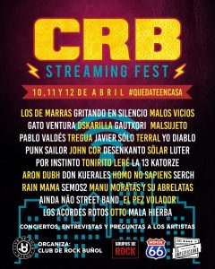 """CRB Streaming Fest"" Club de Rock Buñol"