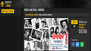 ROCK AND ROLL WOMEN. Conciertos en Casa.