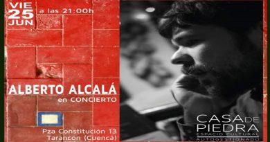 Concierto de Alberto Alcalá en la Casa de Piedra de Tarancón.