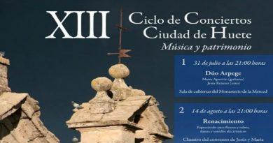 """XIII Ciclo de Conciertos Ciudad de Huete """"Música y Patrimonio"""""""