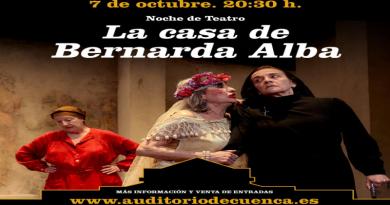 Noche de Teatro con La Casa de Bernarda Alba en el Auditorio de Cuenca