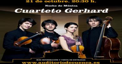 Música de W. A. Mozart y R. Gerhard con el Cuarteto Gerhard en el TAC José Luis Perales